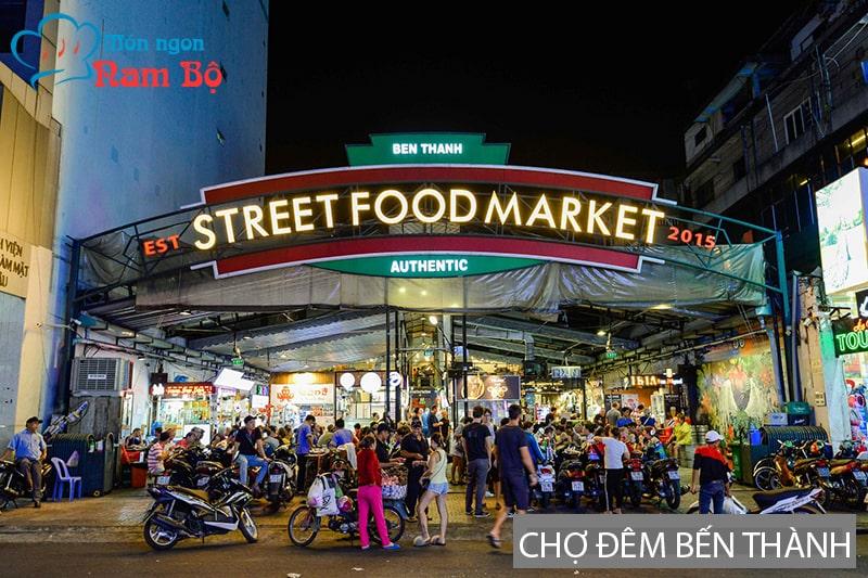 Con đường ẩm thực ở Chợ đêm Bến Thành