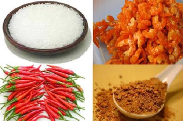 Nguyên liệu làm muối tôm Tây Ninh