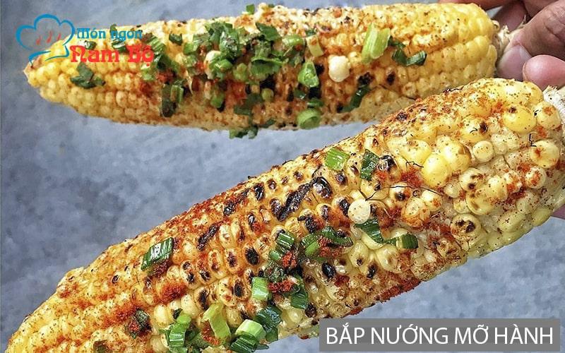 Bắp nướng mỡ hành nổi tiếng ở Sài Gòn