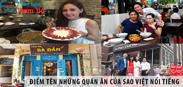 Điểm tên những quán ăn của sao Việt nổi tiếng