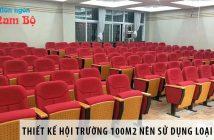 Thiết kế hội trường 100m2 nên sử dụng loại ghế gì? 2
