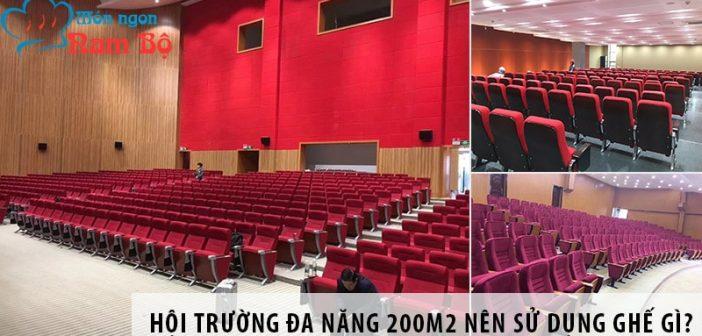 Thiết kế hội trường đa năng 200m2 nên sử dụng ghế gì?