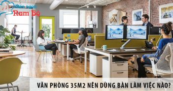 Thiết kế văn phòng 35m2 nên dùng bàn làm việc nào?