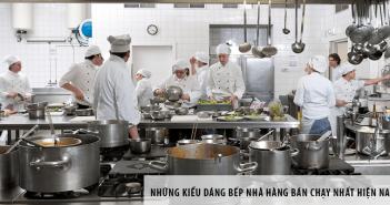 Những kiểu dáng bếp nhà hàng bán chạy nhất hiện nay