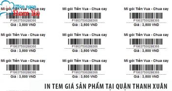 Cách in tem giá sản phẩm tại quận Thanh Xuân tiết kiệm nhất
