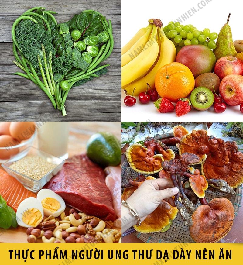 Những thức ăn mà người bị ung thư dạ dày nên ăn