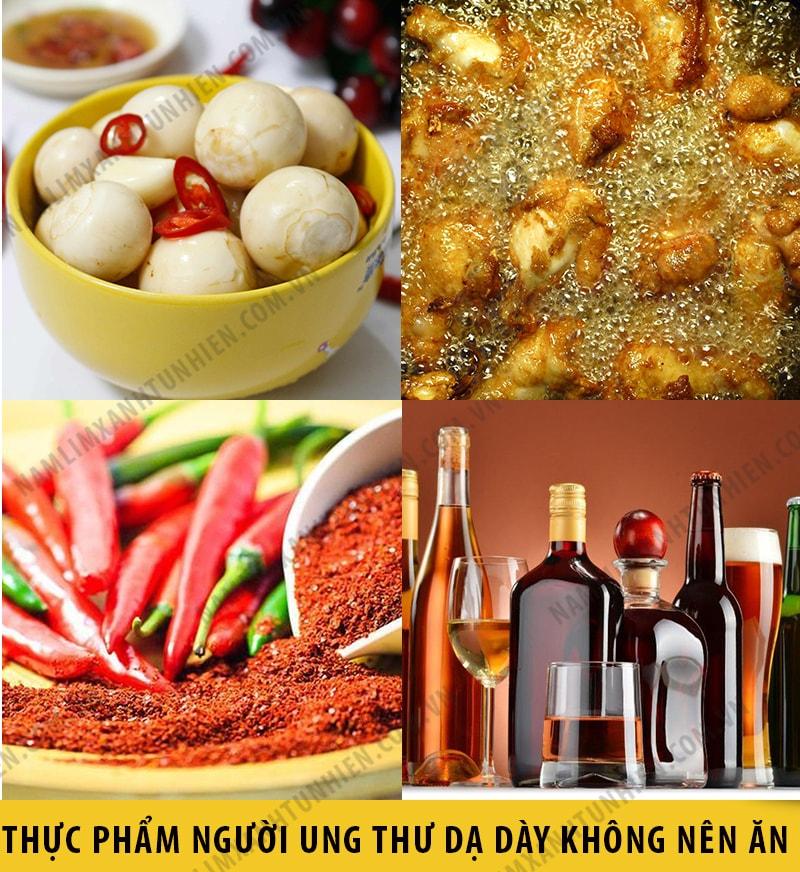 Những thức ăn mà người bị ung thư dạ dày nên kiêng
