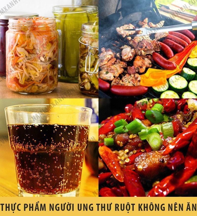 Những thực phẩm mà người bị ung thư ruột không nên ăn